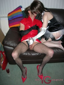 Tgirl orgy